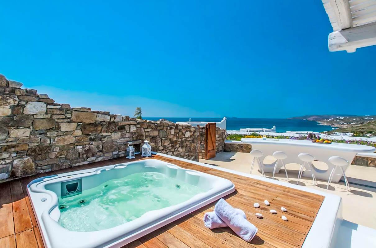 2 Luxury Mykonos Villas for sale , Kalafatis Mykonos