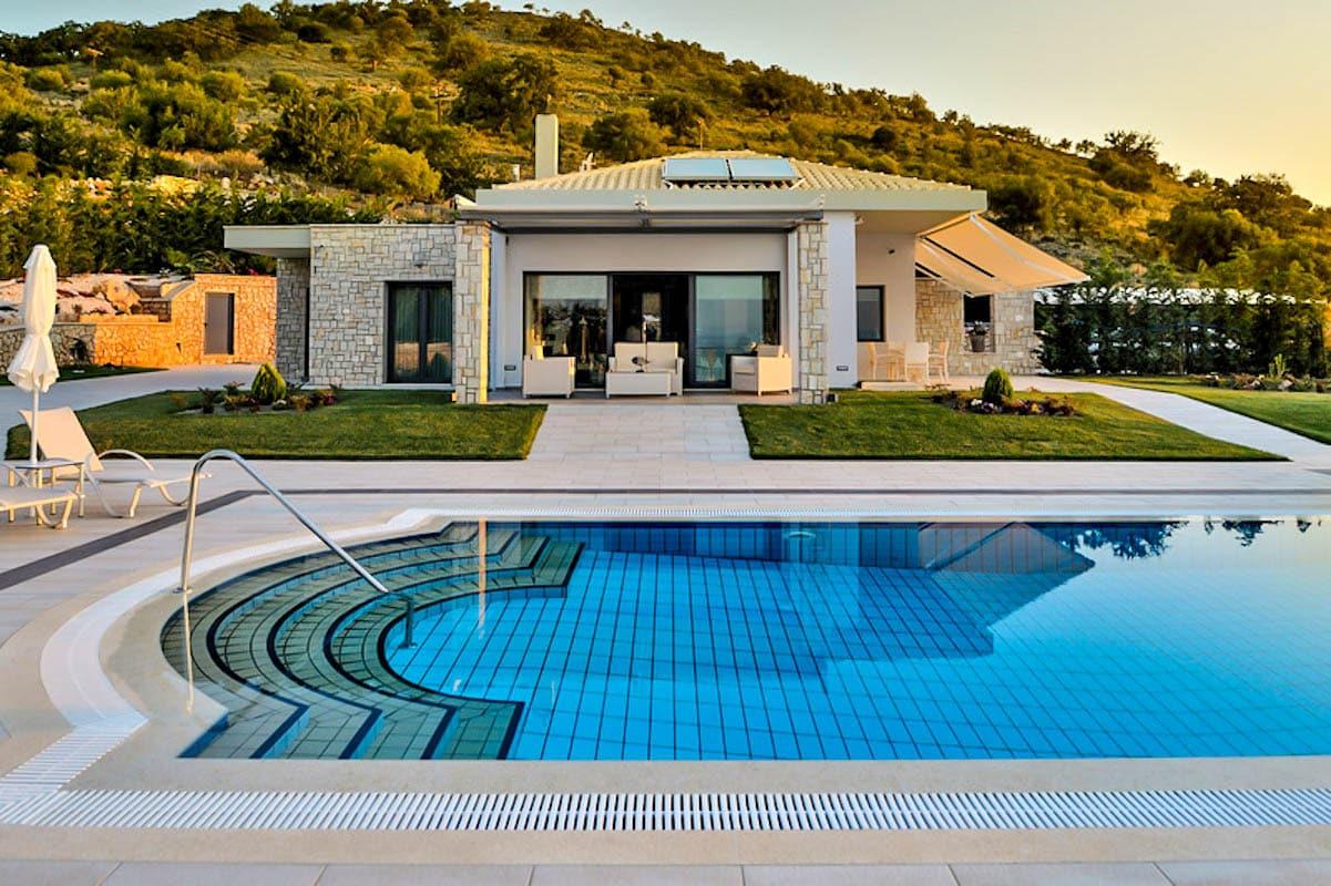2 Luxury Villas at Syvota Ionio Greece with Helipad, next to Corfu