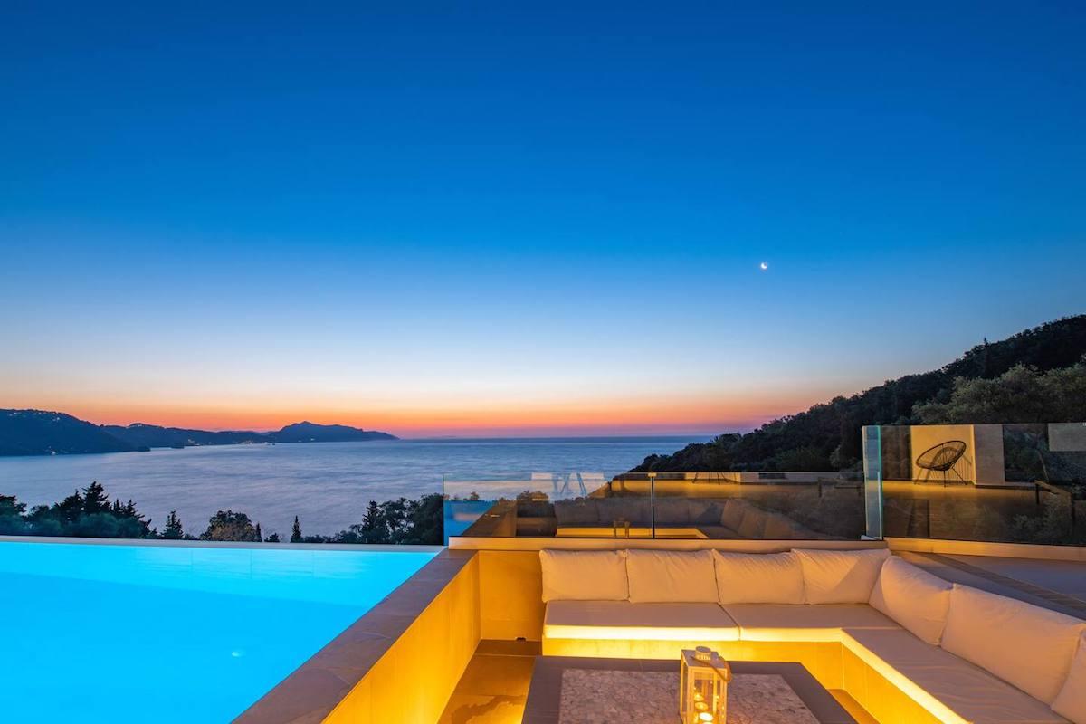Modern Villa in Corfu with Great Sea Views, West Corfu