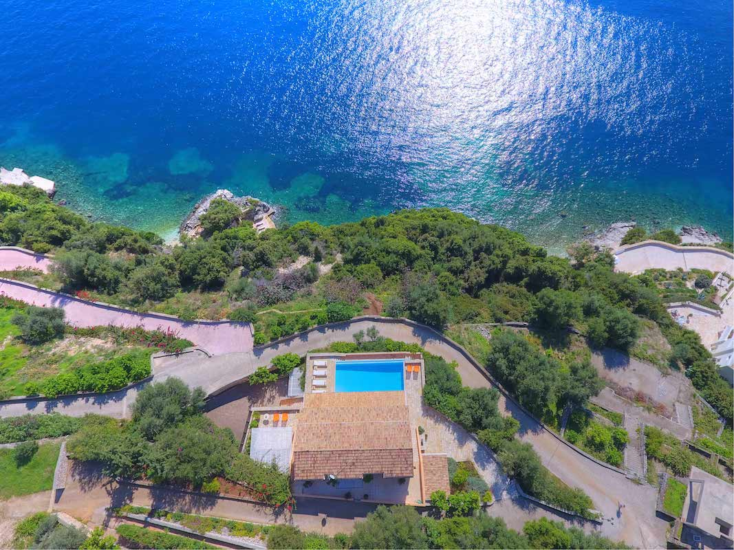 Great Seafront Estate in Corfu Greece