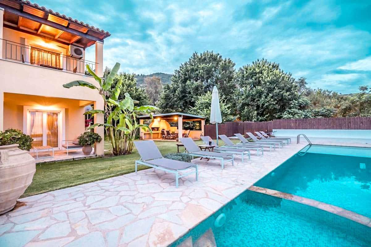 2 Seafront Villas in Corfu Greece, Kalamaki