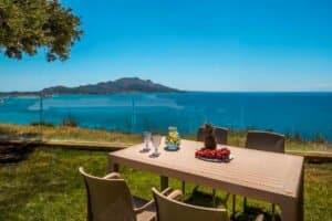 Small Seafront Villa Zakynhtos Greece. Beachfront Property Greek Island