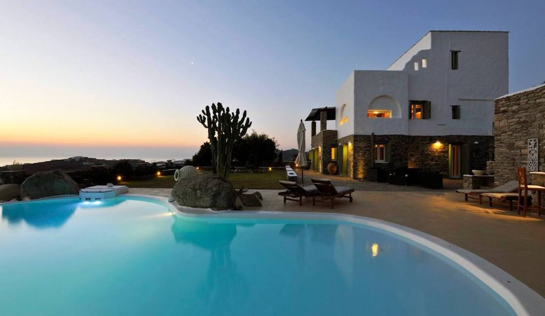 Villa in Paros with panoramic views. Luxury Estates in Paros Greece 1