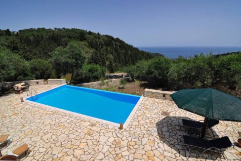Villa with Sea View and Pool in Paxos Island near Corfu Greece. Properties in Paxos Greece 31
