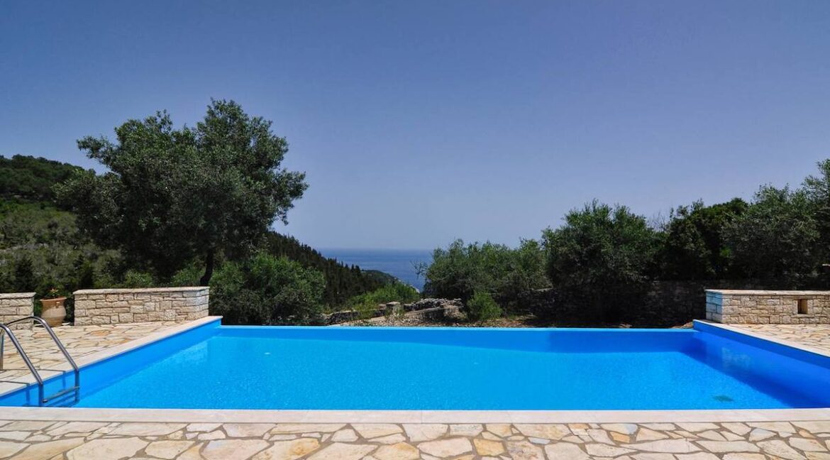 Villa with Sea View and Pool in Paxos Island near Corfu Greece. Properties in Paxos Greece