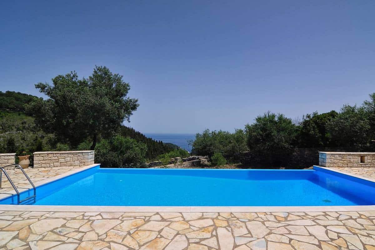 Villa with Sea View and Pool in Paxos Island near Corfu Greece