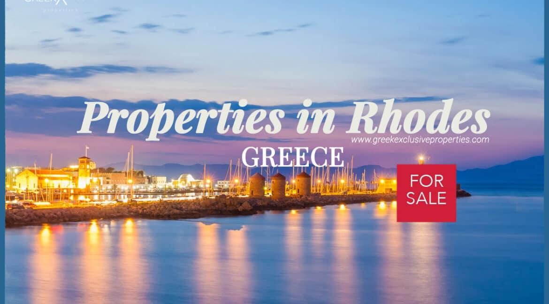Properties Rhodes Greece, Villas in Rhodes for Sale, Real Estate Rodos Greece