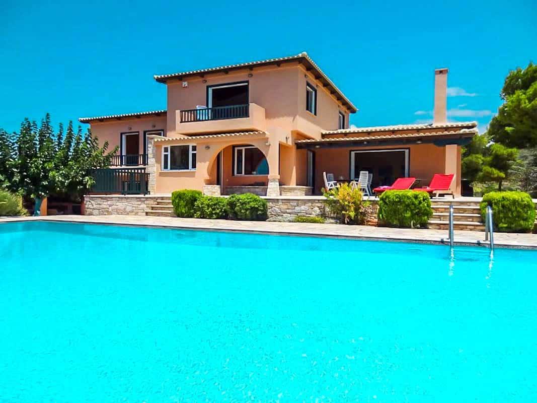Villa with Pool and Sea View at Sounio Attica