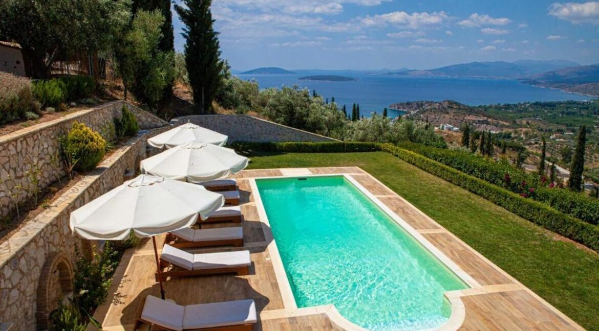 Panoramic View Villa in Peloponnese, Luxury Property in Peloponnese 24