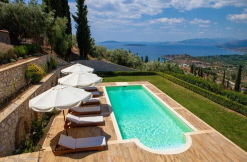 Panoramic View Villa in Peloponnese, Luxury Property in Peloponnese
