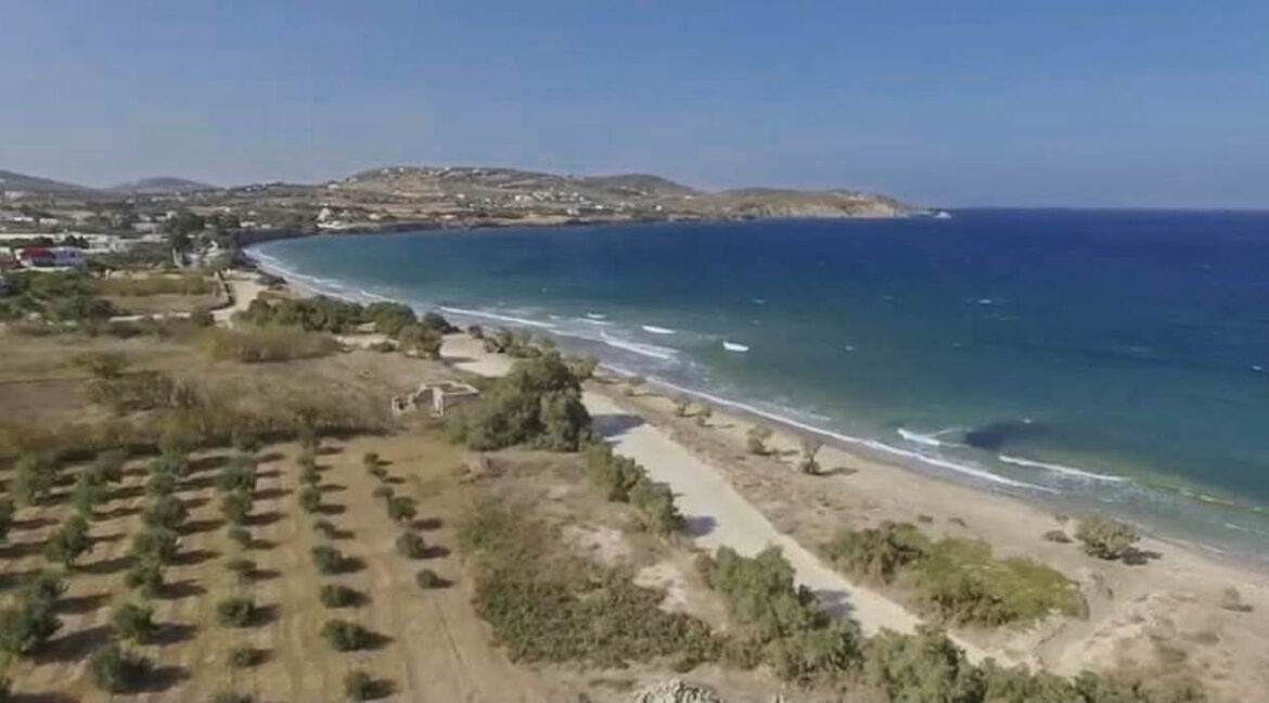 Seafront Land in Paros Greece to built, Land for Sale Cyclades Greece1