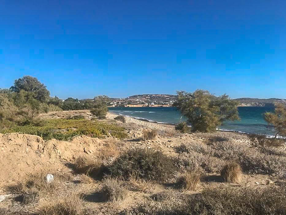 Seafront Land in Paros Greece to built, 10.000 sqm in Tsoukalia area