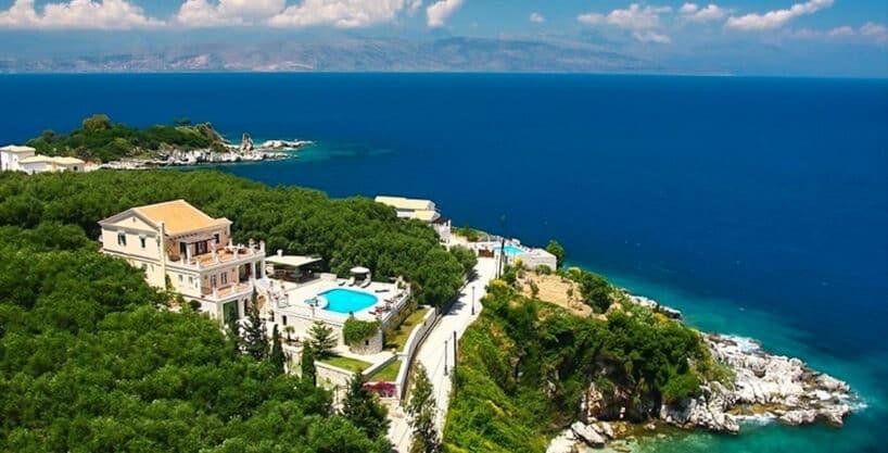 Villa for Sale Corfu Greece, Seafront Property in Kassiopi Corfu Greece