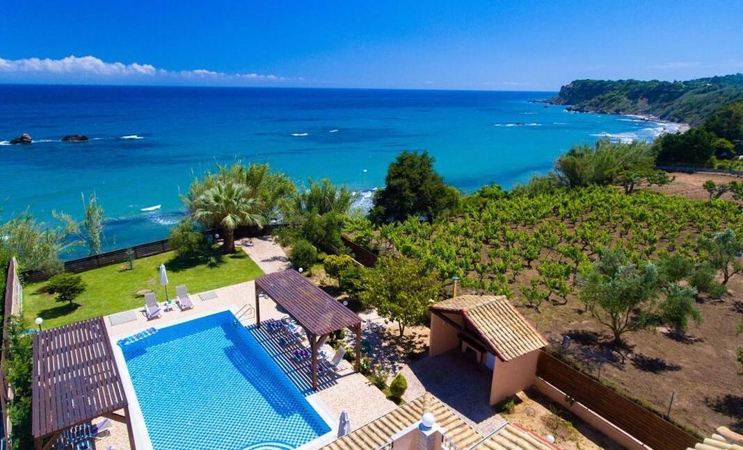 Beachfront Villa for Sale Corfu Greece, Corfu Seafront Properties for sale