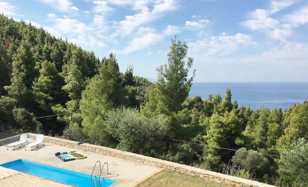 Beautiful villa Sithonia Halkidiki. Hill top Villa Halkidiki Greece for sale 12
