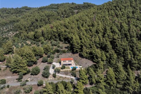 Beautiful villa Sithonia Halkidiki. Hill top Villa Halkidiki Greece for sale 27
