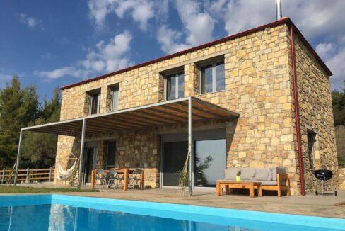 Beautiful villa Sithonia Halkidiki. Hill top Villa Halkidiki Greece for sale 28