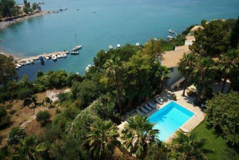 Luxury Seafront Villa in Corfu Greece for sale