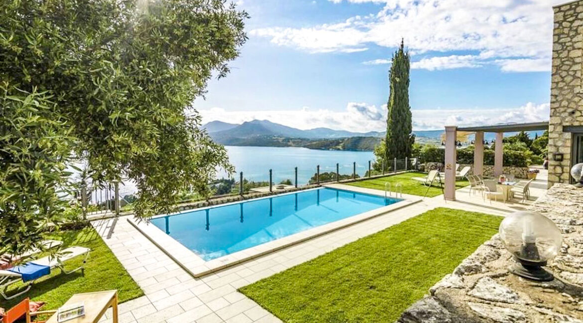 Luxury Villas in Lefkada Greece for sale, Hill Top Villa in Lefkada for Sale