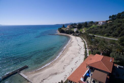 Seafront Land of 22 acres in Sithonia Halkidiki Ideal for Building a Hotel. Beachfront land Halkidiki Greece 1