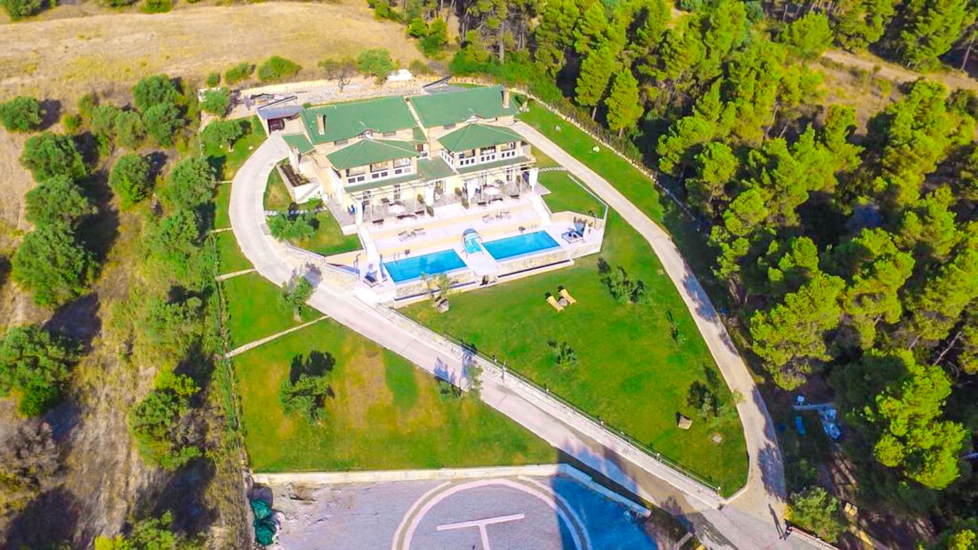 Mansion with helipad in Halkidiki