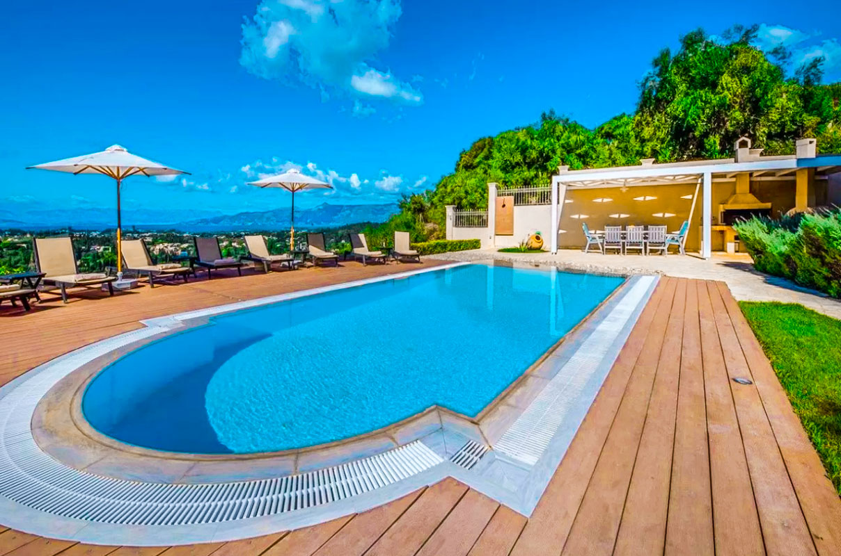 Sea View Villa Corfu Island, Central Corfu