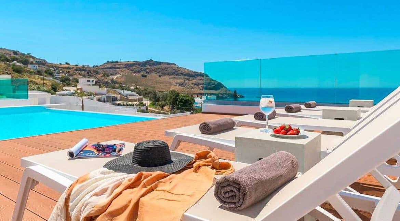 Sea View Villa Lindos Rhodes Greece For Sale, Properties Rodos Greece 17
