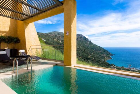 Luxury villas at Chania Crete Greece, Crete Greece Properties for Sale. Buy Seaview Villa Crete Island 36