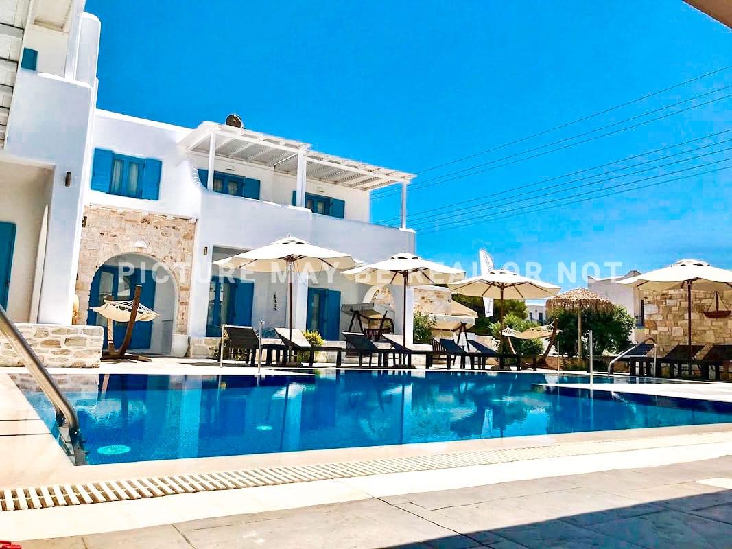 Small hotel next to the beach in Naoussa Paros