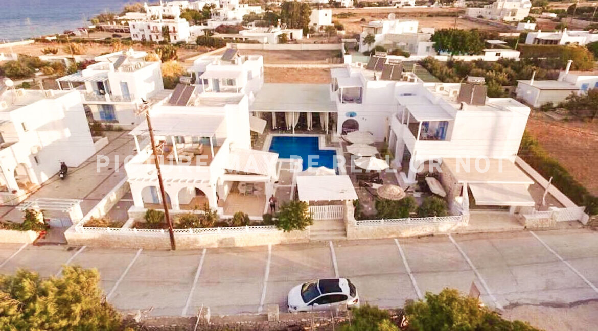 Small hotel next to the beach in Naoussa Paros in Greece for Sale, Hotels Sales Paros Greece 2