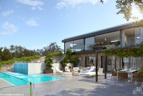 Seafront Villa Lefkada, the last one available. Luxury Villa under construction5