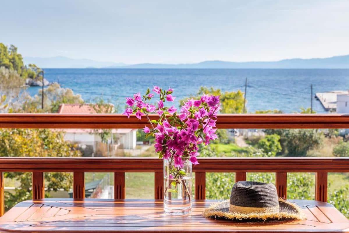 Apartments Hotel near the sea in Skopelos Greek Island