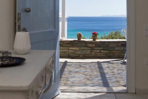 Beach House in Tinos island Cyclades Greece, Homes in Cyclades Greece, Seafront Homes Greek Islands
