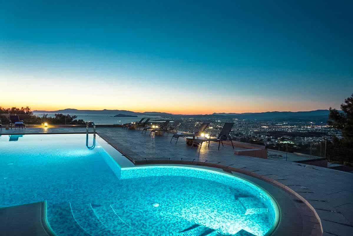 Luxury Villa with Panoramic Sea View Chania Crete