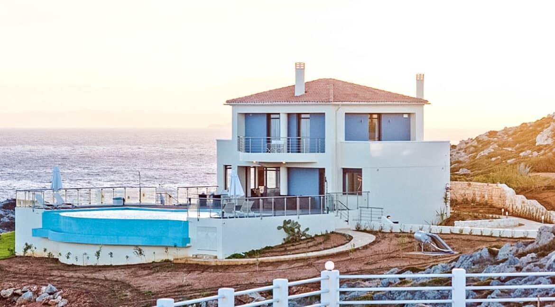 Seafront Villas in Crete near Chania Crete for sale, Waterfront Property Crete Greece, Seafront Houses Crete Greece 21