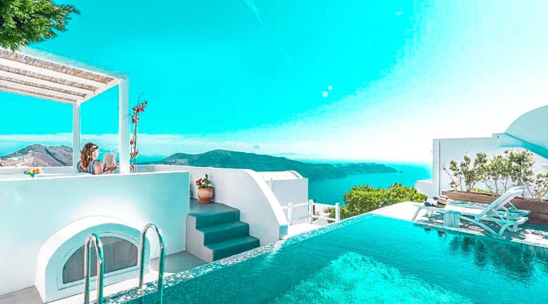 Two Caldera houses at Imerovigli Santorini with amazing sea view, Santorini Properties, Santorini Greece Real Estate. Properties in Santorini 15